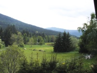 Cottage in the Bohemian forest - view from the chalet